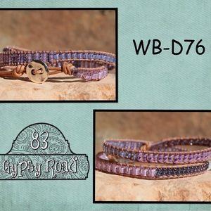 WB-D76 beaded double wrap bracelet